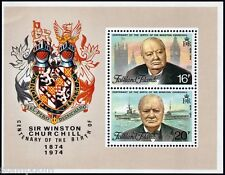 FALKLAND ISLANDS 1974 Winston Churchill SS/MS dented top left corner MNH @J627