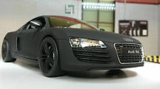 G LGB 1:24 Scale Audi R8 V8 22493 Detailed Welly Diecast Model Car Matt Black
