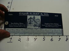 1937 CHAS. A. DAY & CO.-- blotter paper and pin