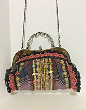 Vintage Victorian Style Shabby Chic Boho Purse Shoulder Handbag Multi-Color EUC