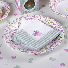 20 PAPER COCKTAIL NAPKINS SERVIETTES FRILLS & SPILLS Pink Wedding Tea Party