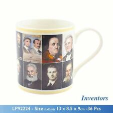 Famous Inventors in History Pictorial Mug Educational Fine China Mug Science