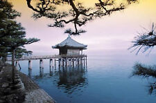 ZEN - HOUSE ON WATER POSTER 24x36 - TRANQUIL NATURE LAKE 1578