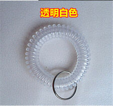Spiral Wrist Coil Key Chains / New in Sealed Bag / Free shipping transparent A20