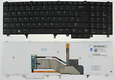DELL LATITUDE E5520 E5530 E6520 E6530 M6600 BACKLIT KEYBOARD UK  07T433 F120