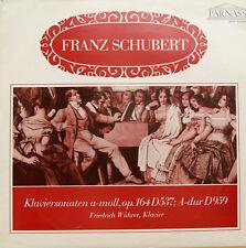 """FRANZ SCHUBERT KLAVIERSONATEN A-MOLL A-DUR FRIEDRICH WÜHRER 12"""" LP (c750)"""