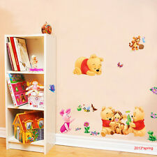 Winnie The Pooh and Friends Wall Sticker For Kids Room Nursery Baby Home Decor