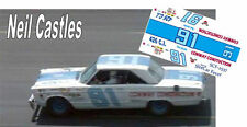 CD_2537  #71 Neil Castles  1967 Plymouth  1:25 scale decals