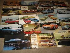 1971, 72, 73 Chevrolet Dealer Sales Brochure Lot (19) Camaro, Corvette, Chevelle