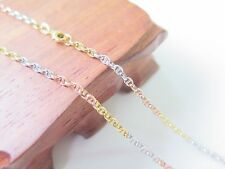 New Pure 18K Multi-tone Gold 2.5mm Anchor Link Chain Necklace 50cm Length