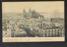 2224.-CADIZ -118 Vista general (1906) (enviada a Venecia)(Postal sin División)