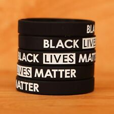 100 Black Lives Matter Wristbands - Silicone Awareness Wrist Band Bracelets