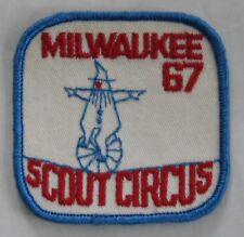 Milwaukee Co Council (WI) 1967 Scout Circus Pocket Patch  BSA