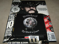 Classic Rock MOTORHEAD The World is Yours CD & MAG Opened MISSING Poster & Badge