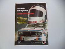 advertising Pubblicità 1975 CASCO BOERI SPORT 2002 SPOILER e BMW RALLY