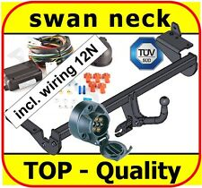 Towbar & Electrics 7pin 12N Peugeot 307 SW Estate 2002 to 2008 / swan neck