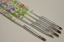 5 Small Detail Nylon Paint Brush Set for Acrylic, Decoupage, Glazes, Nail Art