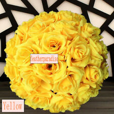 Yellow Rose Flower Ball Pomander Wedding decoratin Ball Kissing Ball 9-10 inches