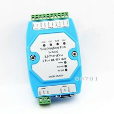 Industrial Isolated RS-232/RS485 to 4 Port RS485 Hub Ethernet module