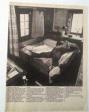 LOU REED 'sleeps with his boots on' magazine PHOTO/Poster/clipping 11x8 inches