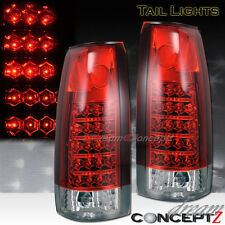 88-98 CHEVY GMC FULL SIZE TRUCK TAHOE TAILLIGHTS LED RED & CLEAR STYLE L.E.D