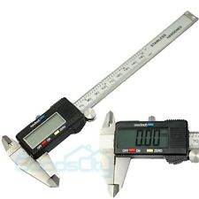 "6"" 150mm Stainless Steel Digital Vernier Caliper Micrometer Guage w/ Hard Case"