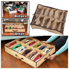 New 12 Pairs Shoes Storage Organizer Holder Container Under Bed Closet Box Bag