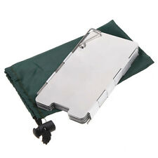 9 Plates Fold Foldable Camping Hiking Cooker Cook Stove Wind Shield Screen New
