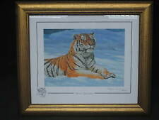 """WINTER SUNBATHER"" STEPHEN GAYFORD LIMITED EDITION TIGER PRINT SIGNED 682/1100"