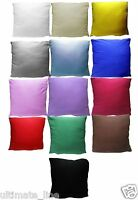 "Cushion Cover 40cm x 40cm - 16"" x 16"" 100% Jersey Cotton with ZIP Plain Cushion"