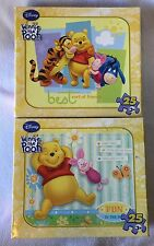 Disney Winnie The Pooh 25 Piece Puzzle Lot,of 2 Best Friends And Fun In The Sun