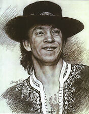 STEVIE RAY VAUGHAN 8 X 10 PHOTO ART WITH ULTRA PRO TOPLOADER