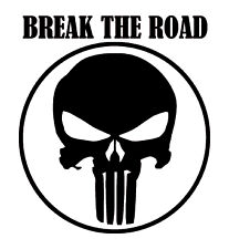 Vinilo pegatina #392# BREAK THE ROAD  para  coches, motos, cascos.