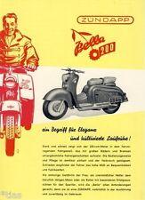 Zündapp Motorroller Bella 200 original Prospekt Nürnberg um 1955