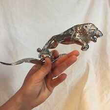 LION CHROME MASCOT HOOD ORNAMENT VINTAGE INDIAN MOTORCYCLE HOT ROD RAT ROD