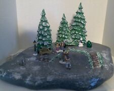 Vintage Holiday Skating Pond 1993  Accessories Lighted