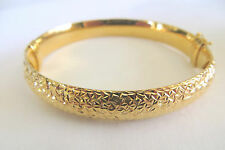 Women's Shinny Bronze Plated Bangle 10 MM 7.5 Inches