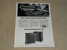 Altec A-7 Voice of the Theater Speaker Ad, 1969, 1 page, Bell Studio Info