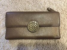 Coach TriFold gold Leather Large Checkbook Wallet