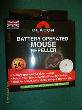 Beacon Rentokil Battery Operated Mouse Rodent Repeller deterrent, NEW