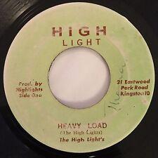 "The High Light's - Heavy Load / Dub - High Light 7"" 45T Rare Reggae '73 ♫"