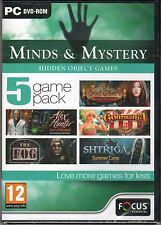 SHTRIGA: SUMMER CAMP Hidden Object MINDS & MYSTERY 5 PACK PC Game DVD-ROM NEW