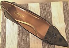 NEW Coach leather shoes New York pump winnie/green size 6B
