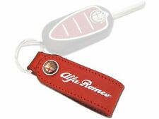 Brand New, Genuine Alfa Romeo Red Leather Keyring / Key Ring Fob 46004883