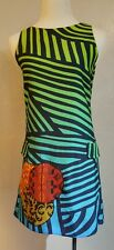 Desigual Shift Cotton Sleeveless Dress EU 36 Tank Style Stripes