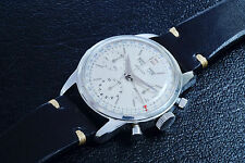 Big 1960s GALLET Valjoux 723 STAINLESS STEEL Carrera Calendar CHRONOGRAPH WATCH