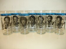 Lot of 7 Different 1977 RC Cola Portland Trail Blazers Glasses