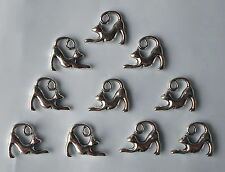 10 X Stretching Cat Kittens Tibetan Silver 2 Sides 3D Beads/Charms/Pendants CH5
