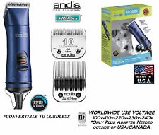 Andis SUPER Power Groom 5 Speed CLIPPER UltraEdge 10&3/4HT Blade Pet Grooming