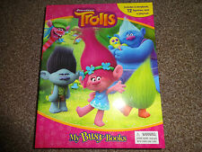 DREAMWORKS TROLLS BUSY BOOK - 12 FIGURES AND A PLAYMAT BRAND NEW FREE P+P